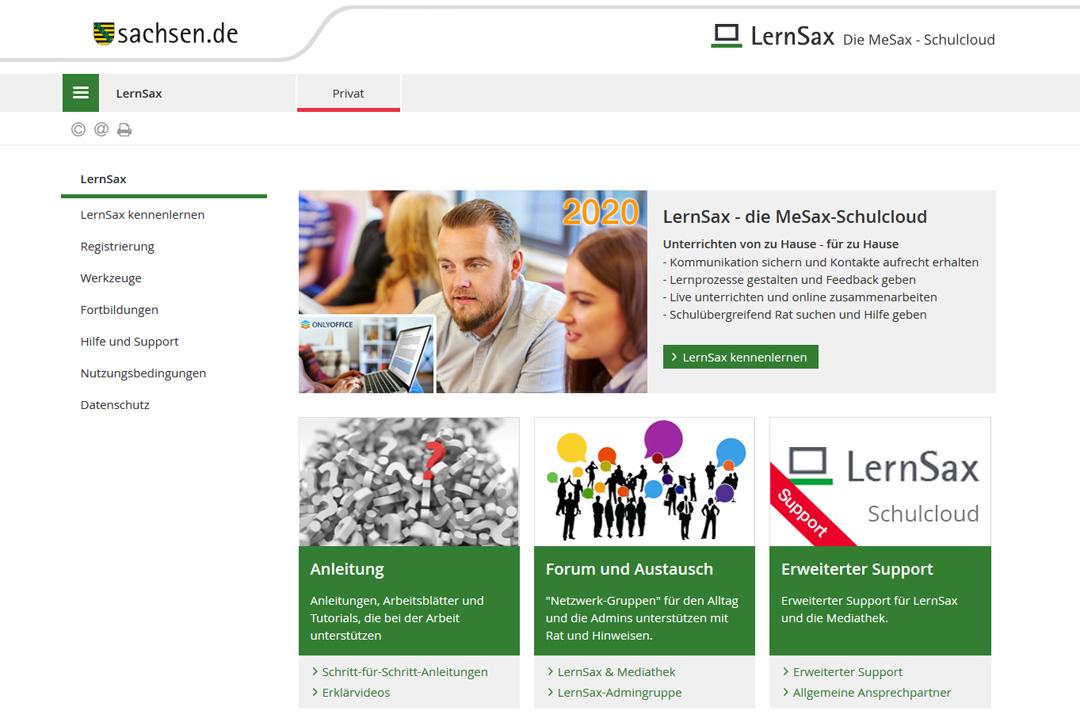 IKG Wilthen Screenshot Lernsax Plattform Nutzung